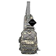 xhorizon TM SR Multifunctional Chest Shoulder Satchel Bag Outdoor Tactical Military Backpack Shoulder Bag for Camping, Hiking, Rover Sling Pack Chest Pack