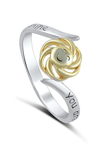 Sterling Silver Two Tone You Are My Sunshine My Only Sunshine Ring (2)