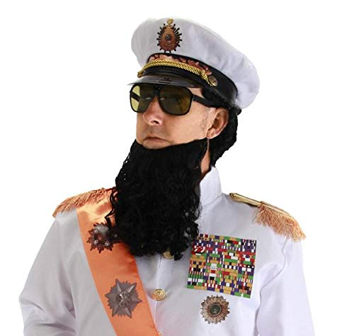 The Dictator Costumes Kit - elope Dictator Accessory Kit, White, One
