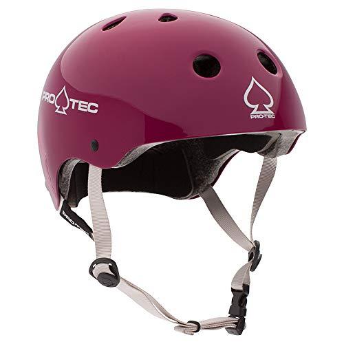 Protec Skate Helmets Pads - Pro-Tec Classic Cert, Gloss Eggplant, L