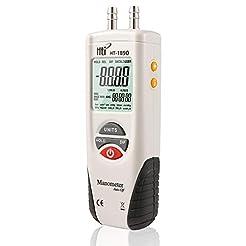 Digital Manometer, Dual Port Air Pressur...
