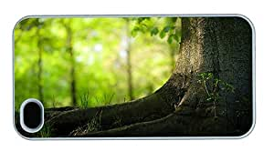 Hipster iPhone 4 customize cases summer tree trunk PC White for Apple iPhone 4/4S