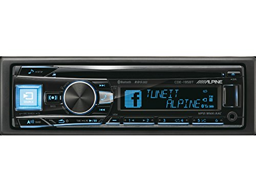 Alpine CDE-195BT Car Stereo (Bluetooth, iPod Control:iPod Plug-In only,)