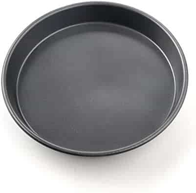 Pizza Baking Dish Non-Stick Microwave Crisper Pan Round Baking Pan Kitchen Baking Accessorie(10inch,Deep Dish 10inch)