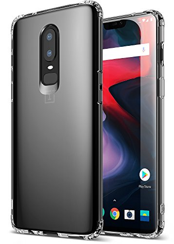 OnePlus 6 Case, Exact Design Crystal Clear Reinforced Corners TPU Bumper Cushion Flexible Soft Gel TPU [Corner Protection] [Thin Slim Fit] Case for OnePlus 6 (2018) ()