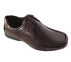 Men's Lace Up - Oxfords Casual Dress Shoes - 2 Styles - In Black / Dark Brown - Sizes 7-12 (7, Brown -549)