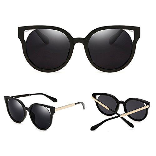 hommes Cat mode en et lunettes Cadre Noir de femmes lunettes métal de Dintang soleil pour Noir Frame de Lentille Eye soleil noir Unisexe Wayfarer 0fq5OwT
