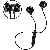 Sagmoc Wireless Headphones, Lightweight Bluetooth Stereo Sport Earphones with Built-In Mic Sweatproof Headset for Running, Gym and Jogging