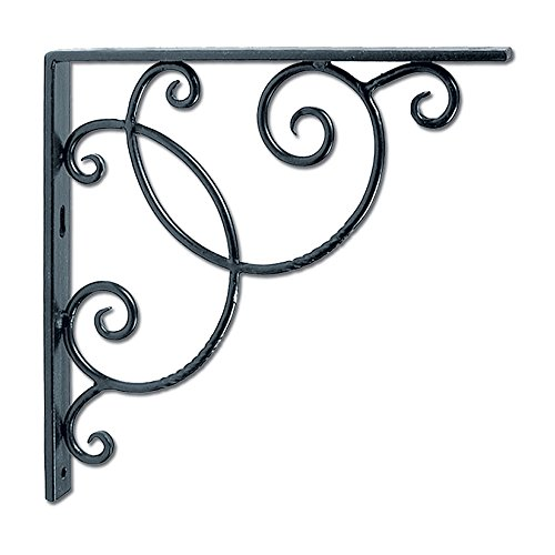 Achla Designs Wrought Iron Decorative Scroll Shelf Brackets, Pair