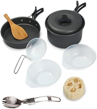 fontic 9 Set – Set de cocina exterior Cocina camping ollas de ...