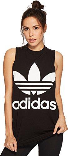 adidas Originals Womens Trefoil Tank Top, Black, M