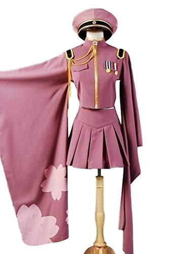 Anime Senbon Zakura Vocaloid Hatsune Miku Cosplay Costume Halloween Party Cosplay Army Uniform -