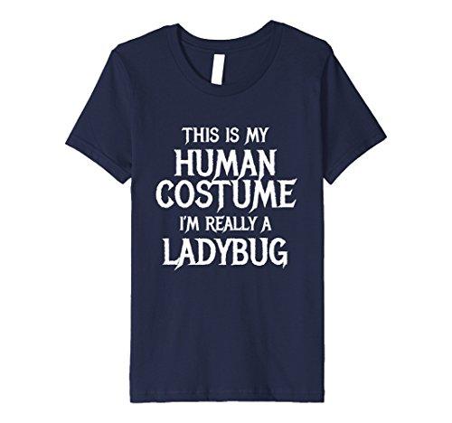 Kids I'm Really a Ladybug Tshirt Funny Easy Halloween Costume 10 (Ladybug Halloween Costume Diy)