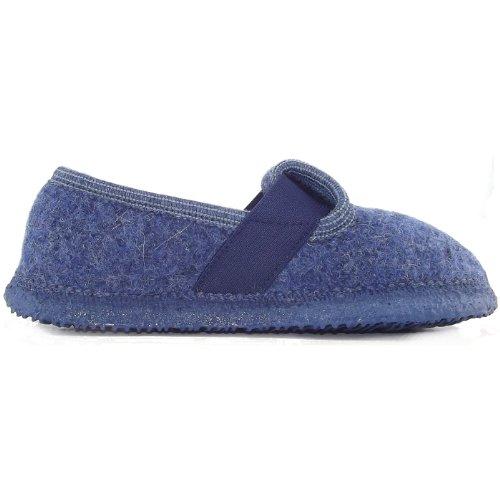 Giesswein - Zapatillas de estar por casa para niño azul - bleu jeans