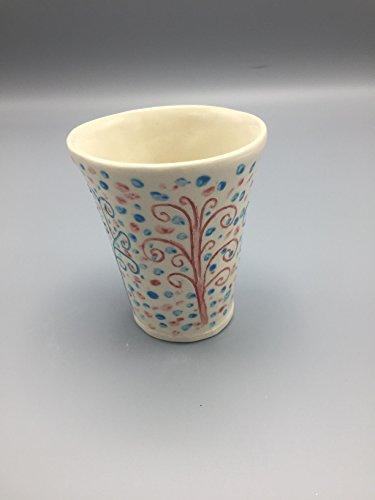 Fairy tale tree of life kiddush cup, handmade porcelain