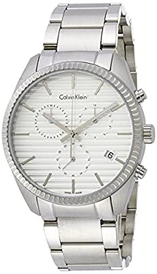 Calvin Klein K5R37146 Mens Alliance Silver Chrono Watch