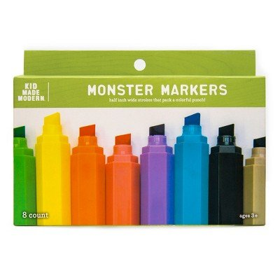 8ct Monster Markers - Kid Made Modern Multicolor: Toys & Games