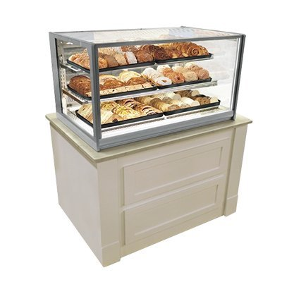 """Federal Industries Non-Refrigerated Display Case, Counter Top Model, 36"""" W x 30"""" D x 34"""" H, Grey Textured Exterior"""