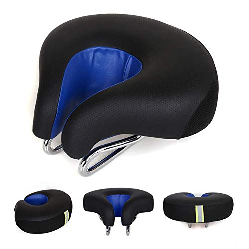 Bicycle Saddle MTB Road Adult Comfortable Open Noseless Bike Front Cushion Cycling Saddle Exercise Bicycle Seat Parts,C