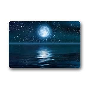 """the beautiful moon Door Mat Indoor and Outdoor Doormat 23.6""""(L) x 15.7""""(W)"""
