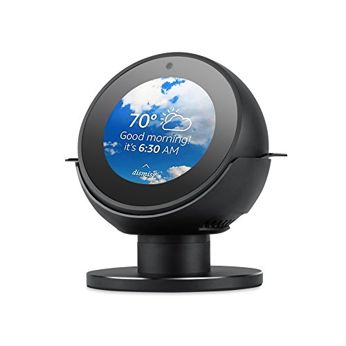 Yocktec Stand for Echo Sport, Echo Spot Adjustable Stand 360 Rotation Metal Bracket Strong Magnetic Base for Echo Spot (Black) ()