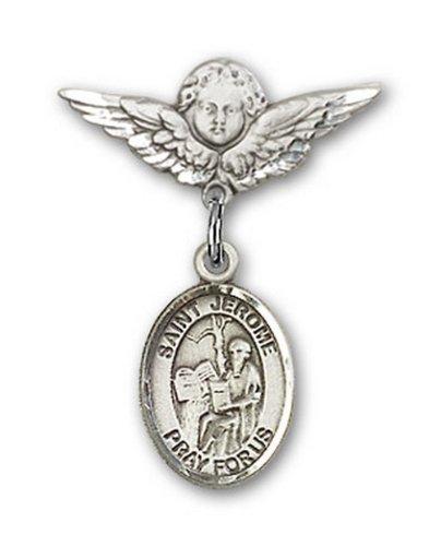 Icecarats Créatrice De Bijoux En Argent Sterling St. Jerome Charme Ange Pin Badge 7/8 X 3/4