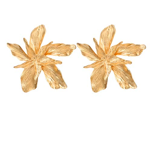 Earrings for Girls,Mebamook Women Personality Exaggerated Alloy Flower Geometric Irregular Earrings Jewelry
