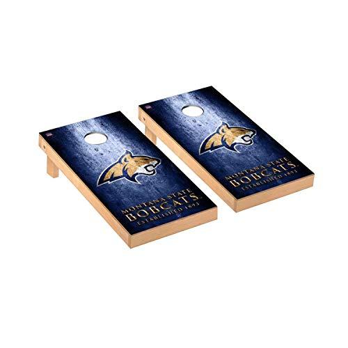 Victory Tailgate Regulation Collegiate NCAA Museum Series Cornhole Board Set - 2 Boards, 8 Bags - Montana State Bobcats