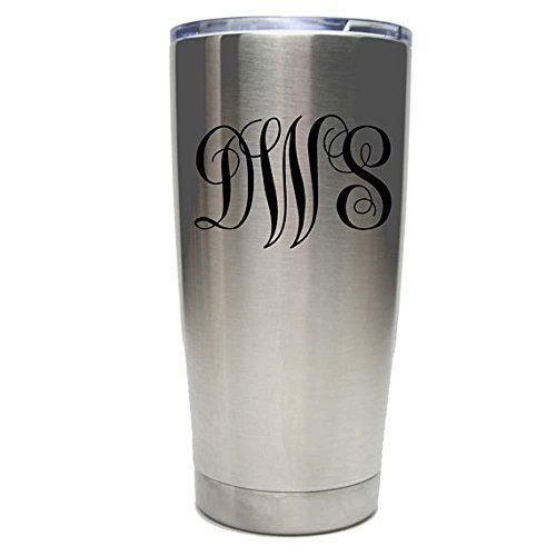 Bridesmaid Tumbler - 20 oz - Set of 4 to12 - Stainless Steel Personalized Custom Engraved Design with Clear Lids - Choice of Colors and Spill Proof Slide Lids - Wedding, Bridal Party Gift -
