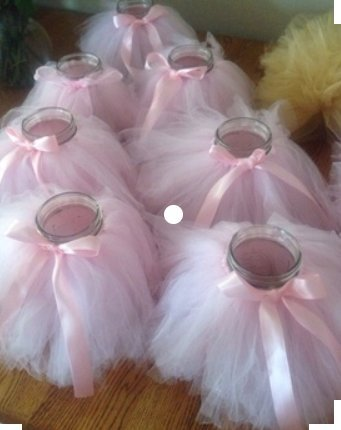 Originals Group Tutu Table Skirt,Baby Pink Tulle Tutu Table Skirt Decor, Birthday Event Wedding Party Decoration (Mini Pink Tutu Garland) by Originals Group (Image #3)