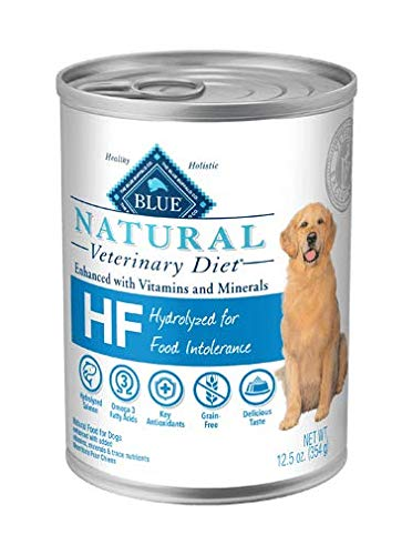 Blue Natural Veterinary Diet HF Hydrolyzed for Food Intolerance Grain-Free Canned Dog Food 12/12.5 oz