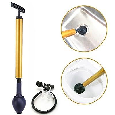 MOTYYA Toilet Plunger, Powerful High Pressure Manual Multi Drain Buster Dredge Opener Suitable for Bathroom,Toilet,Bathtubs,Showers Clog Remover Multifunctional Ball Pump tool Bike Inflator
