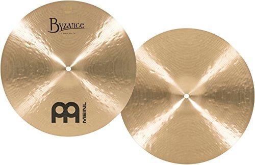 "Meinl Cymbals Byzance 15"" Traditional Medium Hihats (Hi hat), Pair — MADE IN TURKEY — Hand Hammered B20 Bronze, 2-YEAR…"