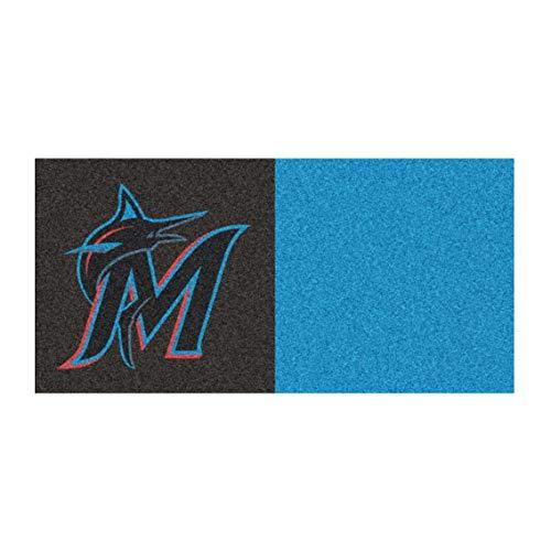 - FANMATS MLB Miami Marlins Nylon Face Team Carpet Tiles