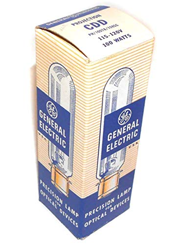 120v 100w Projection Lamp - NOS General Electric CDD 100 Watt, 120 Volt Projector Lamp Light Bulb