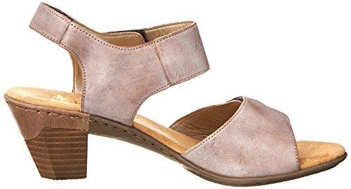 White sandals 67369 Rieker Black Women's Aileen M 42 Clay qFgF0