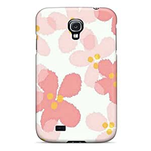 Hot Snap-on Pink Flowers Hard Cover Case/ Protective Case For Galaxy S4 by lolosakes