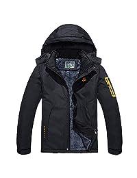 YIRUIYA Men's Mountain Outdoor Fleece Winter Windproof Ski Jacket
