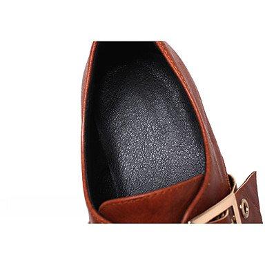 Verano Innovador black Negro Robusto 2'5 Mujer Tacón Hebilla Confort Heart Semicuero 4'5 cms Tacones Marrón Otoño Casual amp;M Amarillo PRUIWqX