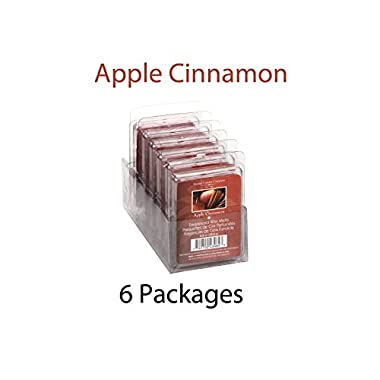 Hosley Candle Company Apple Cinnamon Wax Cubes / Melts - Set of 6 / 2.5 oz each. Hand poured wax infused with essential oils.