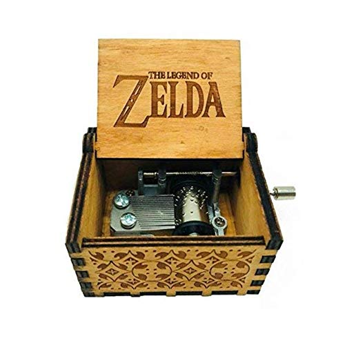 XinGDong GaNJue Fashion Beautiful Antique Carved Wooden Music Box Hand Cranked Music Box Craft (Theme:Legend of Zelda)
