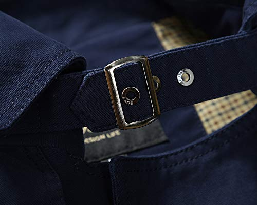 Long Mens AnyuA Jacket Military Outerwear Warm Dark Slim Lightweight Sleeve Coats Multi Blue Fit Pockets RpqIgwq