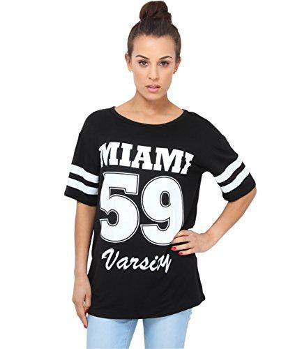 KRISP Camiseta Deportiva Manga Corta Beisbol Larga Talla Grande Negro (6802)