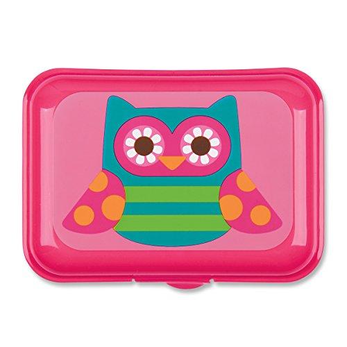 Stephen Joseph Owl Snack Box, Pink
