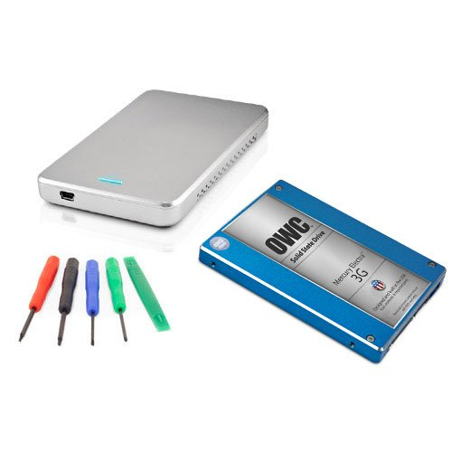 OWC 1.0TB SSD DIY Drive Upgrade Kit: 2.5'' 1.0TB Mercury Electra 3G SSD 7mm, OWC Express USB 3.0 Enclosure, and OWC 5 Piece Toolkit by OWC