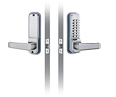 "CODELOCKS CL410 Codelock with Entry and Exit Lever, Cover Plates, 2 3/4"" Latch Bolt"