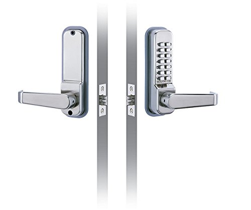 CODELOCKS CL415 Codelock with Entry and Exit Lever with Passage Set, 2 3/4'' Latch Bolt by Codelocks