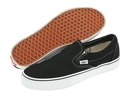 Trainers Slip Adults' Canvas Classic Unisex Black on Vans White Classic wAFqTSKO