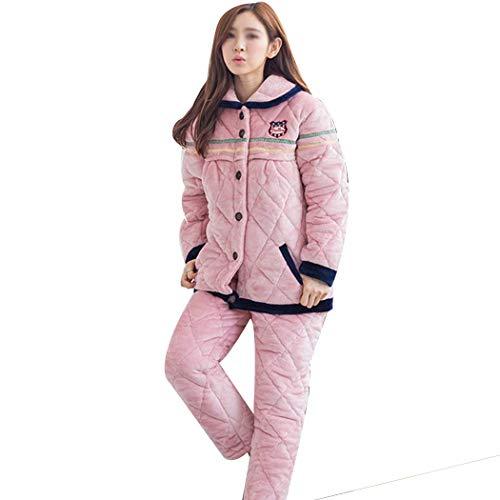 Pink Otoño E Tres B Maternidad Amamantar Ropa Tamaño color Pijamas De Huifei Más Franela Invierno Xxxl Para Capas Terciopelo Engrosamiento D ad5qwwf1