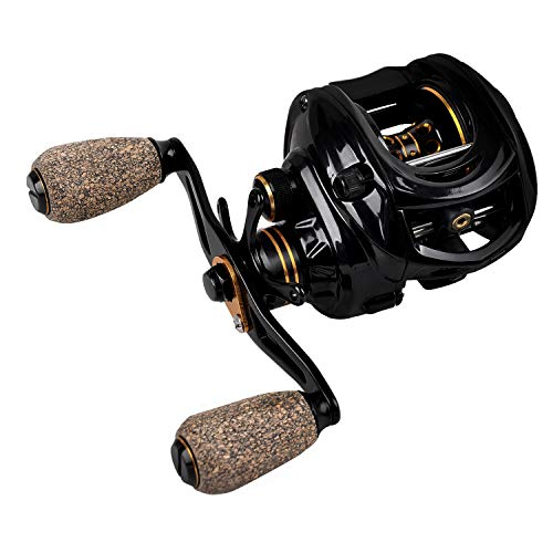 Fiblink Baitcasting Fishing Reel 9+1 Ball Bearings Casting Reel Right/Left Handed Baitcaster (Right)